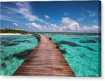 Walk Over The Water Canvas Print
