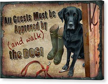 Walk The Dog Canvas Print by JQ Licensing