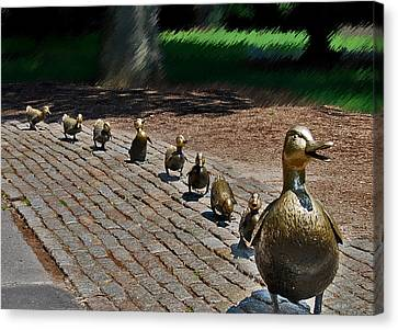 Canvas Print featuring the photograph Walk This Way by Caroline Stella