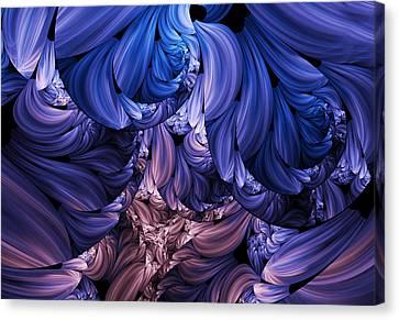 Walk Through The Petals Abstract Canvas Print by Georgiana Romanovna