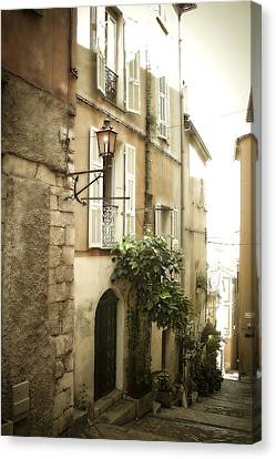 South Of France Canvas Print - Walk Through Villefranche by Julie Palencia