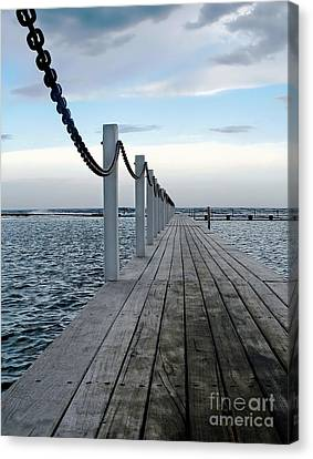 Walk To The Ocean Canvas Print by Kaye Menner