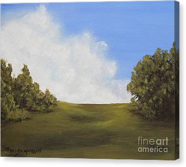 Canvas Print featuring the painting Walk With Me by Christie Minalga