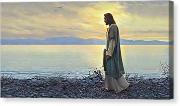 God Canvas Print - Walk With Me by Greg Olsen