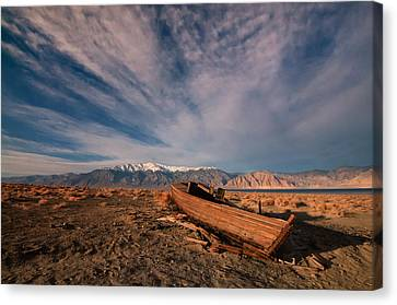 Canvas Print featuring the photograph Walker Lake Fishing Boat by Janis Knight