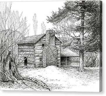 Walker Sisters' Farm House Canvas Print by Bob  George