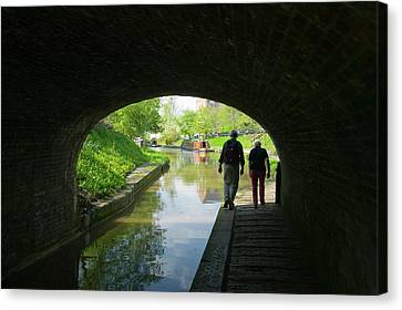 Towpath Canvas Print - Walkers On The Shropshire Union Canal by Ashley Cooper