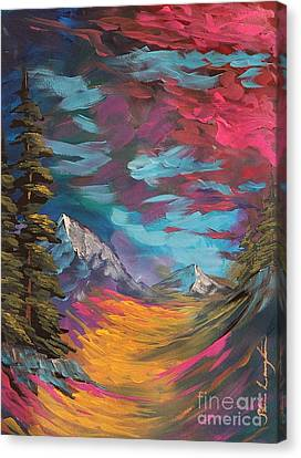 Walking Alone Canvas Print by Steven Lebron Langston