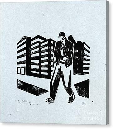 Walking And Talking Canvas Print by Igor Kislev