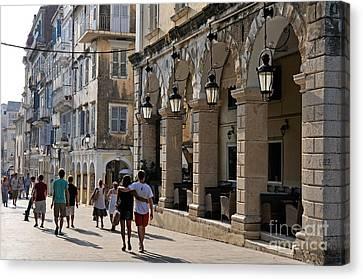 Corfu Canvas Print - Walking At The Old City Of Corfu by George Atsametakis