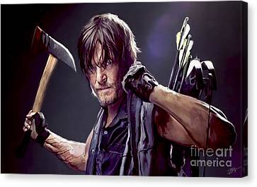 Walking Dead - Daryl Canvas Print