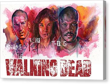 Walking Dead Dead Canvas Print by Ken Meyer