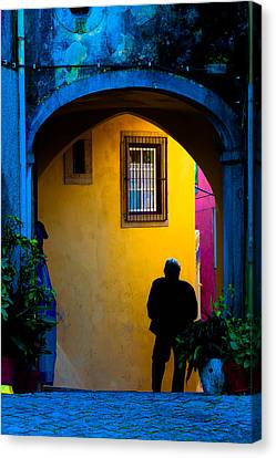 Canvas Print featuring the photograph Walking by Edgar Laureano