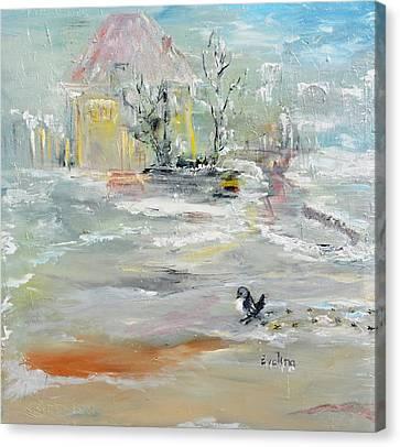 Walking  Canvas Print by Evelina Popilian