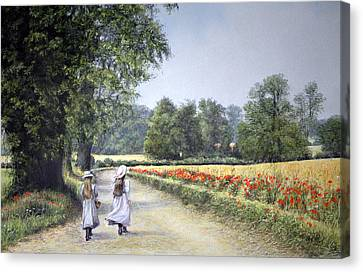 Walking Home Canvas Print