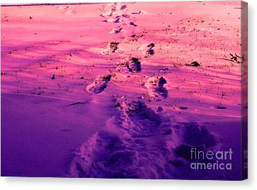 Christian Poetry Canvas Print - Walking In A Dream by Michael Grubb
