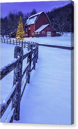 Walking In A Winter Wonderland Canvas Print by Thomas Schoeller
