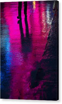 Walking In The Rain Canvas Print by Garry Gay