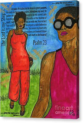 Walking In The Spirit Canvas Print by Angela L Walker