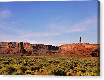 Walking In The Valley Of The Gods Canvas Print by Christine Till