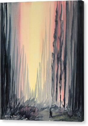 Walking Canvas Print by Kristine Plum