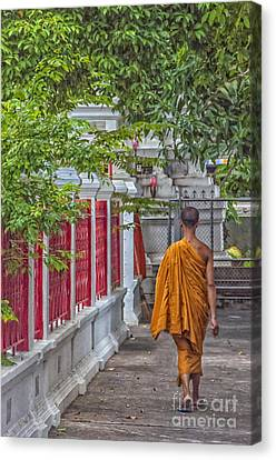 Walking Monk Canvas Print by Antony McAulay