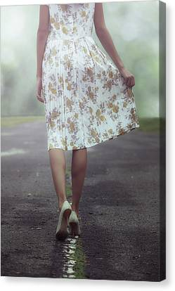 Gown Canvas Print - Walking On The Street by Joana Kruse