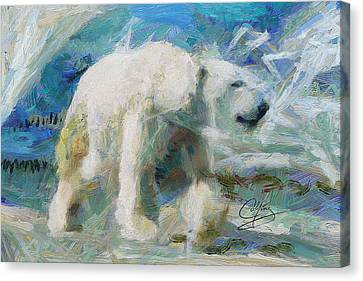 Canvas Print featuring the painting Cold As Ice by Greg Collins