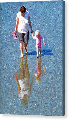 Walking On Water Canvas Print by Steve Taylor