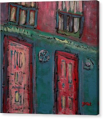 Walking Canvas Print by Oscar Penalber