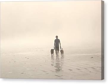 Walking The Dog Florentia Canvas Print