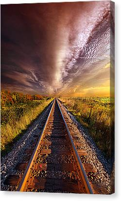 Walking The Line Till The Morning Shines Canvas Print by Phil Koch