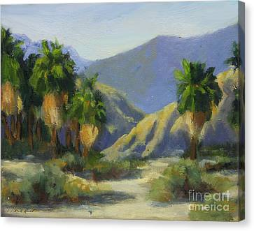 California Palms In The Preserve Canvas Print by Maria Hunt