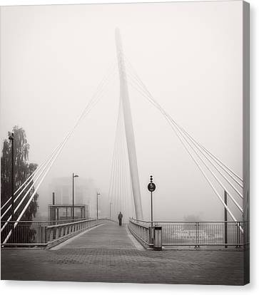 Walking Through The Mist Canvas Print