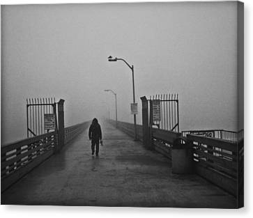 Walking Towards The Abyss Canvas Print by Larry Butterworth