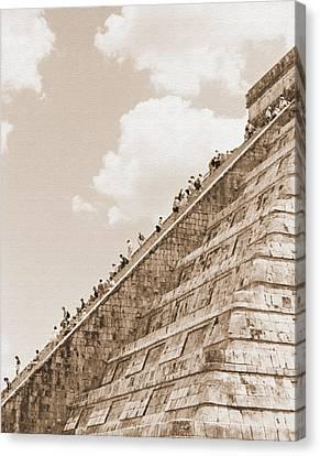 Walking Up The Pyramid Canvas Print