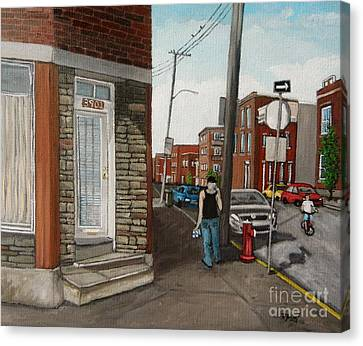Walking Verdun In The Summer Canvas Print by Reb Frost