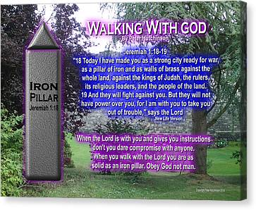 Walking With God Canvas Print