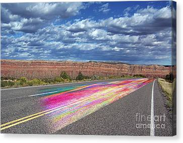Canvas Print featuring the digital art Walking With God by Margie Chapman