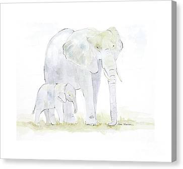 Walking With Mama Canvas Print by Joan Sharron