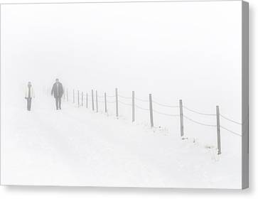 Walking Without Vision Canvas Print
