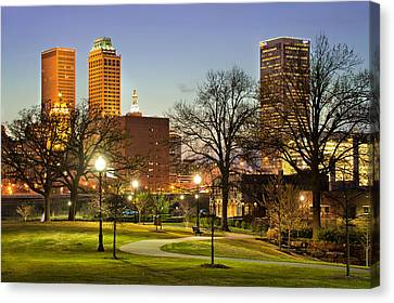 Walkway City View - Tulsa Oklahoma Canvas Print