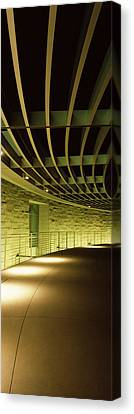 Walkway Of A City Hall, San Jose City Canvas Print by Panoramic Images