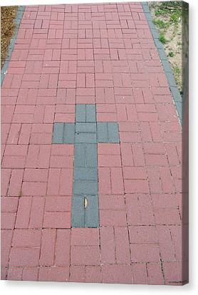 walkway of Faith Canvas Print by Aaron Martens