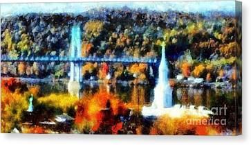 Walkway Over The Hudson Autumn Riverview Canvas Print