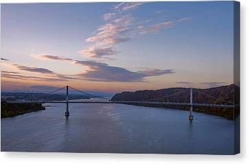 Walkway Over The Hudson Dawn Canvas Print by Joan Carroll