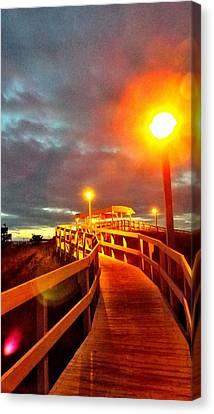 Walkway To Atlantic Canvas Print by Cindy Croal