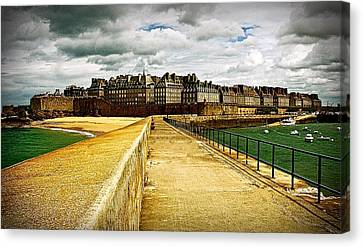 Canvas Print featuring the photograph Walkway To Intra Muros by Elf Evans