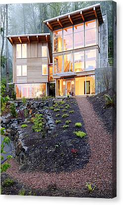 Walkway To Modern House Canvas Print by Will Austin