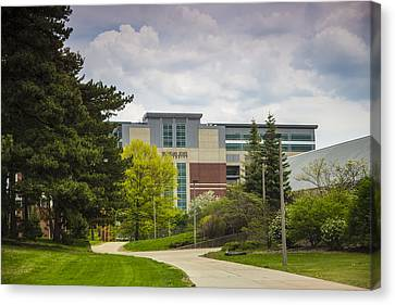 Walkway To Spartan Stadium Canvas Print by John McGraw